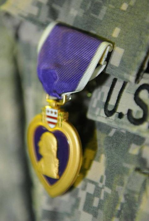 Purple Heart on Uniform