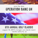 Operation Game On Golf Classic Save The Date