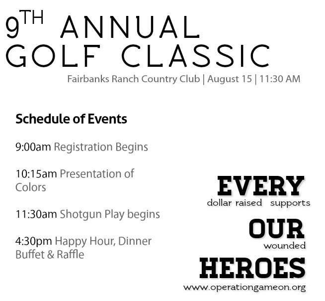 2016 Classic Schedule of Events